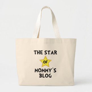 Mommy?s Blog Star Large Tote Bag