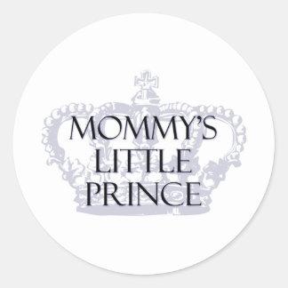 Mommy s Little Prince Round Sticker