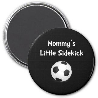 Mommy�s Sidekick Soccer 3 Inch Round Magnet