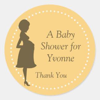 Mommy Silhouette Round Sticker