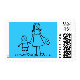 Mommy & Son Personalized Postage Stamps