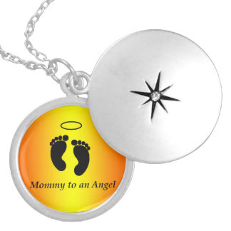 Mommy to an Angel Necklace Round Locket Necklace