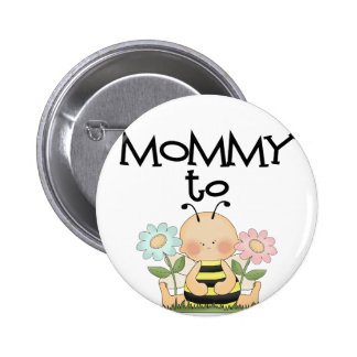 MOMMY TO BE/Bee Pinback Button