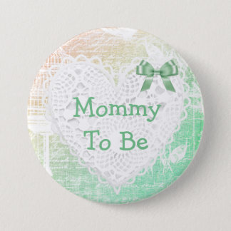 Mommy to be bird cage  baby shower Button