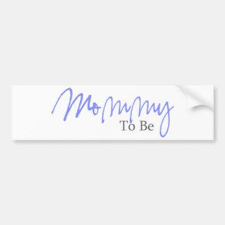 Mommy To Be (Blue Script) Car Bumper Sticker