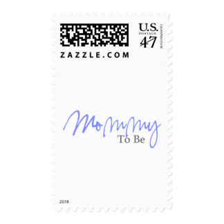 Mommy To Be (Blue Script) Postage