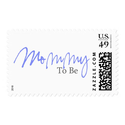 Mommy To Be (Blue Script) Postage Stamps