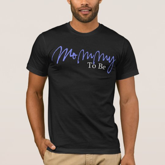 Mommy To Be (Blue Script) T-Shirt