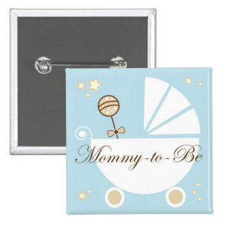Mommy To Be 2 Inch Square Button