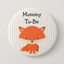 Mommy To Be Button Woodlands Theme