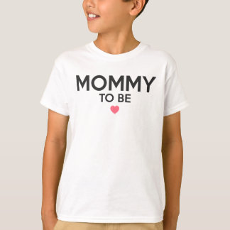 Mommy To Be Cute Print T-Shirt