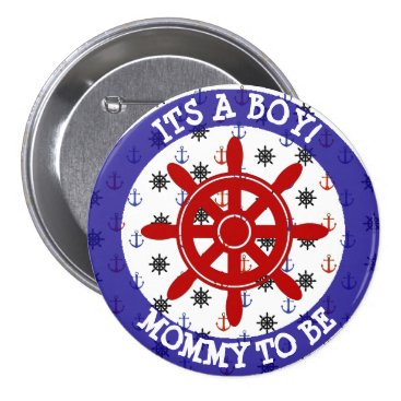 Beach Themed Mommy to be, Nautical Baby Shower button