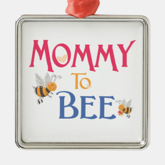 Mommy to Be Square Metal Christmas Ornament