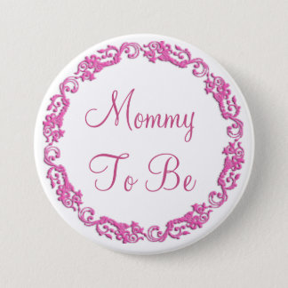 Mommy to be Pink Baby Shower Button