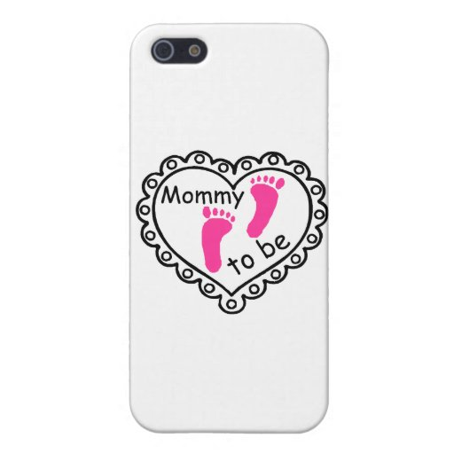 Mommy To Be Pink Girl Footprints Heart iPhone 5 Case