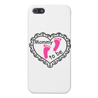 Mommy To Be Pink Girl Footprints Heart iPhone SE/5/5s Case