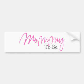 Mommy To Be (Pink Script) Car Bumper Sticker