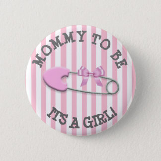 Mommy to be Pink Striped Diaper Pin Baby Shower