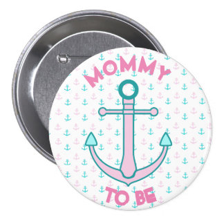 Mommy to be Pink & Teal Baby Shower Button
