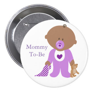 Mommy To Be Purple Baby Button