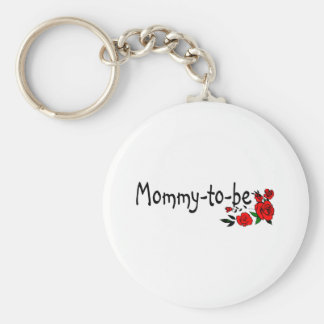 Mommy To Be Roses Keychain