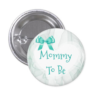 Mommy to be Teal Tulle Baby Shower Button
