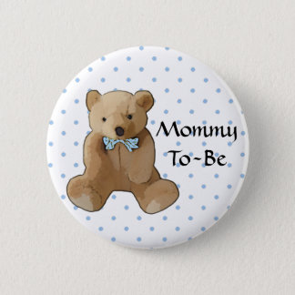 Mommy To Be Teddy Bear Baby Shower Button