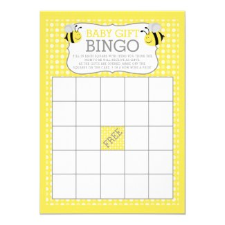 Mommy to Bee Baby Shower Baby Gift Bingo Game