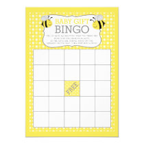 Mommy to Bee Baby Shower Baby Gift Bingo Game Card