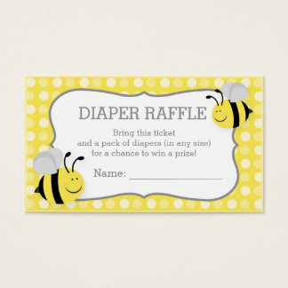 Mommy to Bee Baby Shower Diaper Raffle Ticket