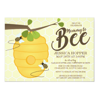 Mommy to Bee Baby Shower 5x7 Paper Invitation Card