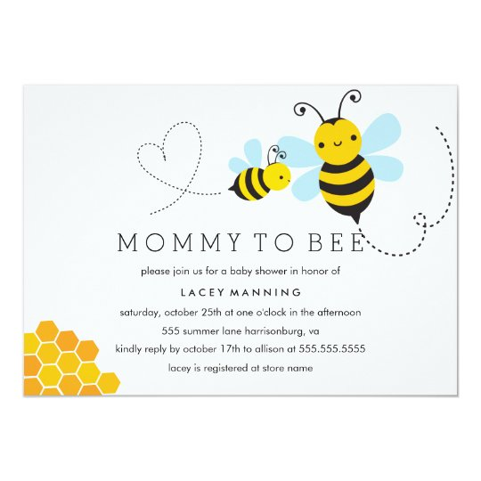 Mommy To Bee Invitations with luxury invitation layout
