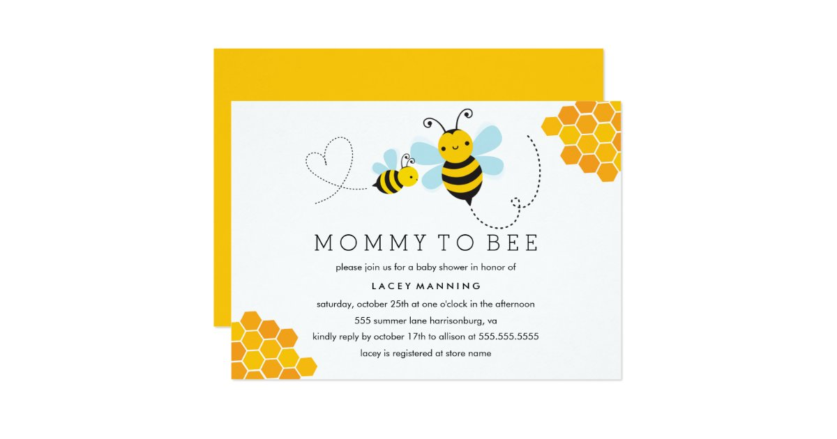 mommy to bee baby shower invitation zazzle