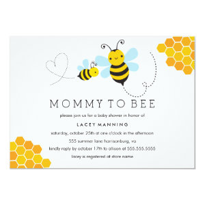 Bumble bee baby shower invitations cute baby shower invitations mommy to bee baby shower invitation 5 filmwisefo