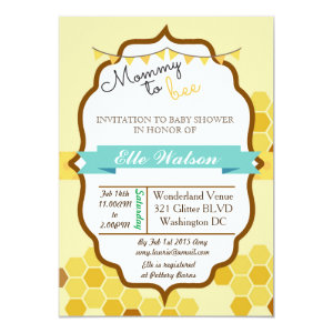 Mommy To Bee Baby Shower Invitations 5