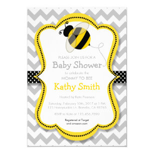 Bee baby shower invitations announcements zazzle mommy to bee baby shower invitations filmwisefo