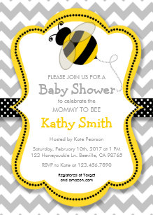 Mommy To Bee Invitations Zazzle