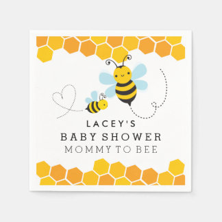 Mommy To Bee Baby Shower Napkins