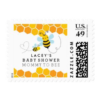 Mommy To Bee Baby Shower Postage Stamps