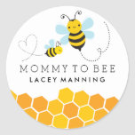 Mommy To Bee Baby Shower Sticker