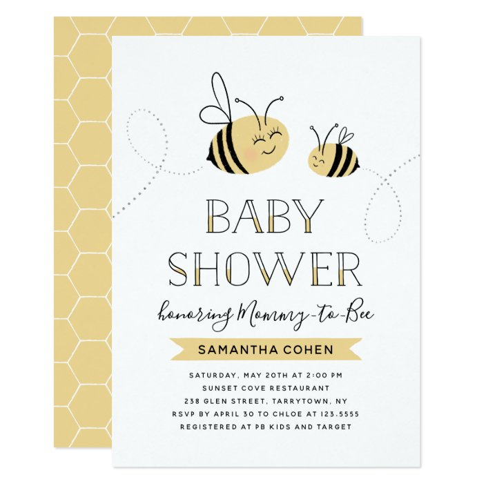 Mommy To Bee Baby Shower Yellow
