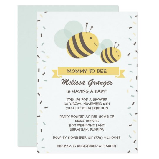 Mommy to bee bumblebee baby shower invitation zazzle mommy to bee bumblebee baby shower invitation filmwisefo