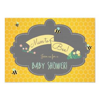 "Mommy To Bee! Custom Baby Shower Invitation 5"" X 7"" Invitation Card"