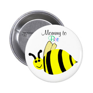 Mommy To Bee Cute Yellow Bumble Bee Maternity Pin