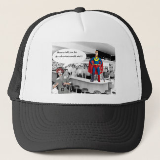 Mommy told you the choo-choo train would win! trucker hat