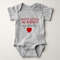 mommy valentine baby bodysuit