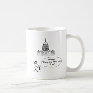 Mommy?  Where does money come from? Coffee Mug