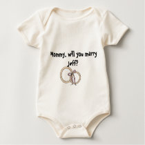 Mommy willy you marry him? baby bodysuit