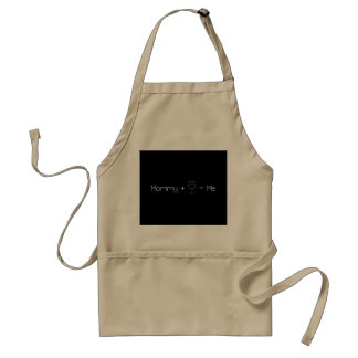 Mommy + Wine = Me Apron