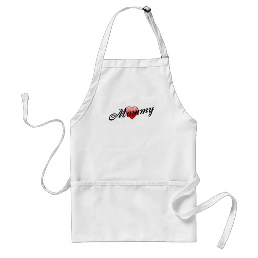 Mommy with Heart Adult Apron